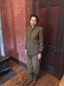 The mid-layer field uniform consists of the base layer with the addition of trouser covers (1st Pattern), leggings, field shoes, M-1943 jacket liner, and knit cap.