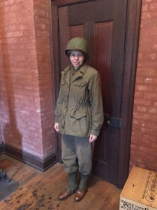 This consists of the middle and base layers, with the addition of the M-1943 jacket and the M1 helmet.