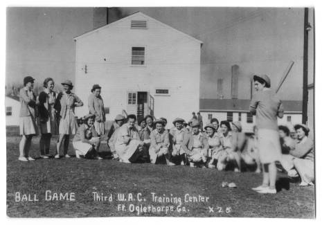 WACs at the Third WAC Training Center, Fort Oglethorpe, Georgia, gather for softball game, circa 1944. The University of North Carolina at Greensboro, University Libraries, PO Box 26170, Greensboro NC 27402-6170, 336.334.5304 -- http://library.uncg.edu/